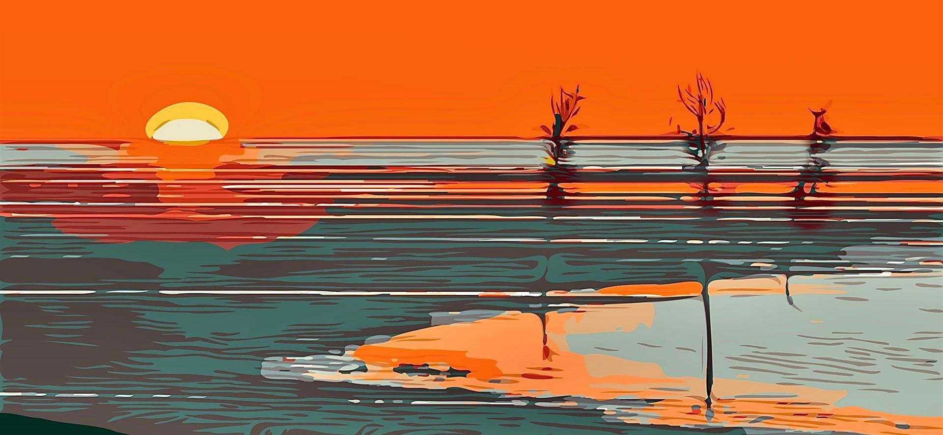 Summer Sunset at Rock Harbor by Rita Colantonio