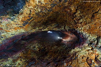 Inside a dormant volcano