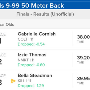 Bella places in the 50 back
