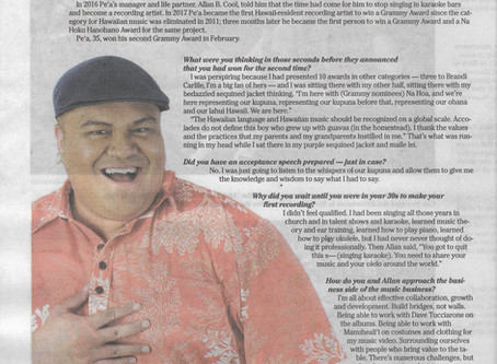 On the Scene with 2-time Grammy Award-winner Kalani Pe'a