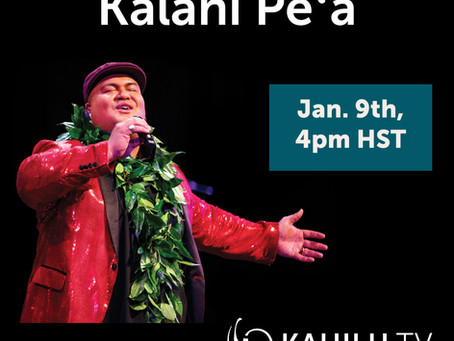 Kahilu Theatre Presents Two-time Grammy Award-winner Kalani Pe'a
