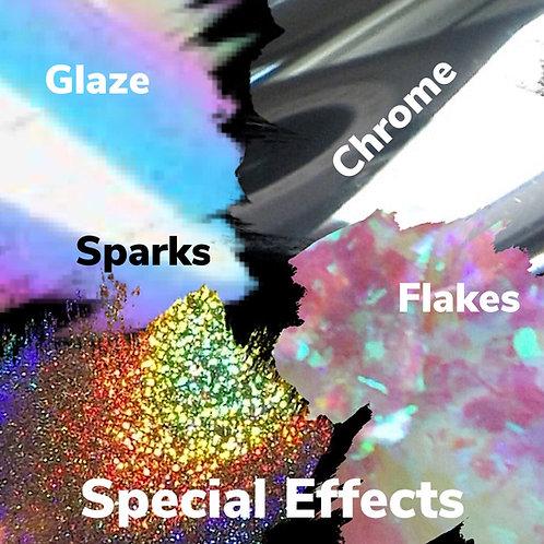 Glazes - Flakes, Sparks & Chromes