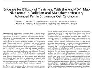 Evidence for Efficacy of Treatment With the Anti-PD-1 Mab Nivolumab in Radiation and Multichemorefra