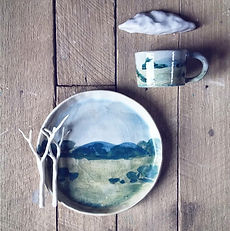 Mountainclay Landscape cup and plate.jpg