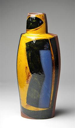 Oval bottle, h36cm, terracotta 2018.JPG
