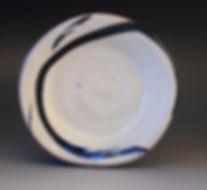Meg Patey Slipware Round plate 20cm wide