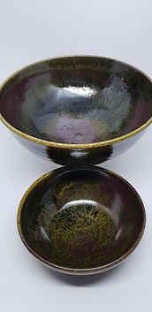 Clay Sisters 1. Wood fired Tenmoku Bowls
