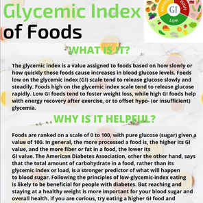 The Glycemic Index of Foods