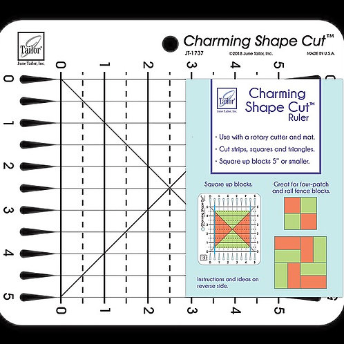 """Charming 5"""" Shape Cut Ruler from June Tailor"""