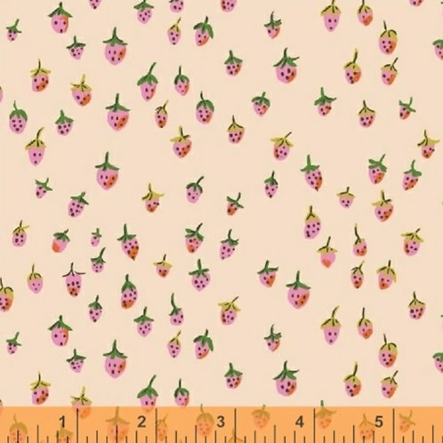 Strawberries in Blush from Trixie by Heather Ross for Windham Fabrics