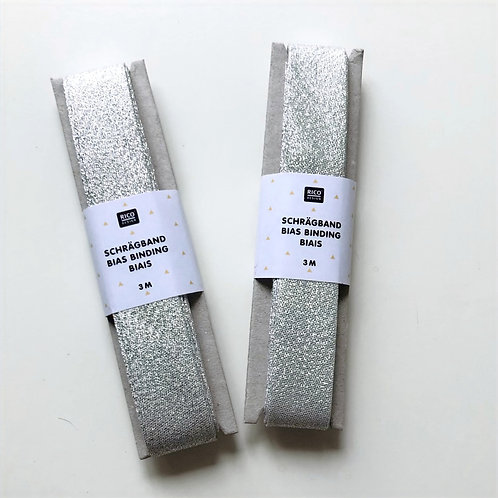 Silver Bias Binding from Rico Design