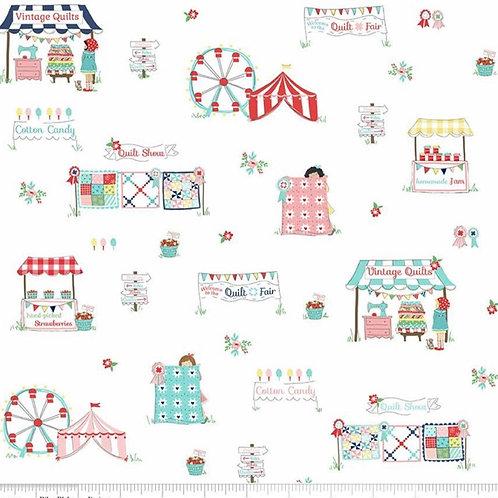PRE-ORDER White Main from Quilt Fair by Tasha Noel for Riley Blake Design