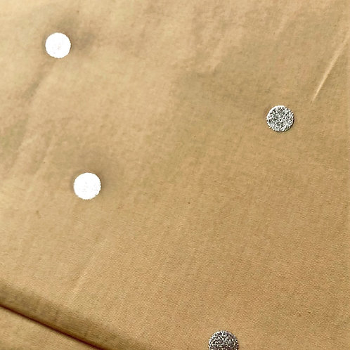 Gold Hot Foil Dots on Mustard from Rico Designs