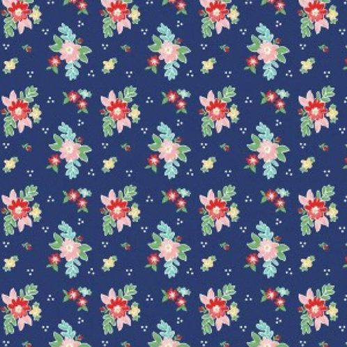 PRE-ORDER Navy Floral from Quilt Fair by Tasha Noel for Riley Blake Desig