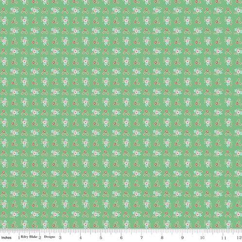 PRE-ORDER Green Ditsy from Quilt Fair by Tasha Noel for Riley Blake Designs