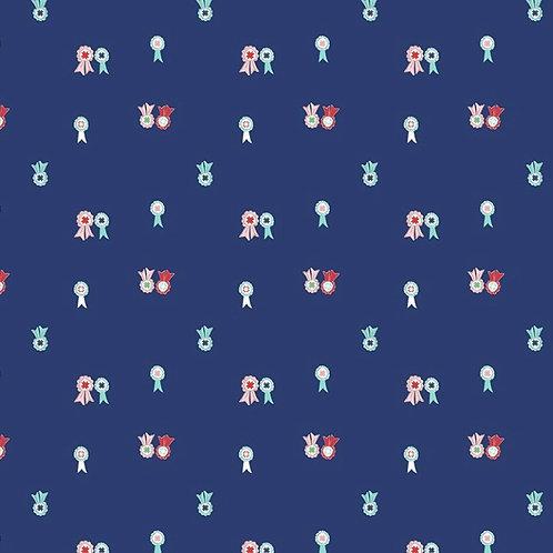 PRE-ORDER Navy Ribbons from Quilt Fair by Tasha Noel for Riley Blake Des