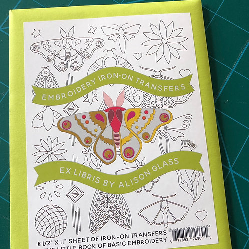 Alison Glass Ex Libris Embroidery Iron On Transfers