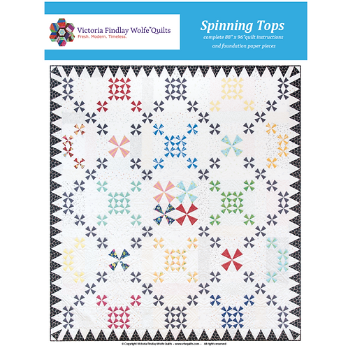 Spinning Tops Pattern & Foundation Papers by Victoria Findlay Wolfe