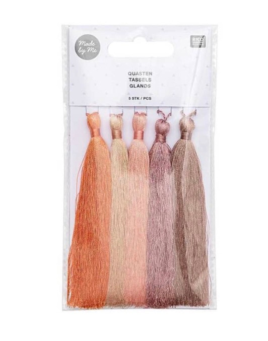 Pack of 5 Tassels in Nudes