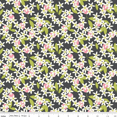 Grove Blossom in Charcoal for Riley Blake Designs