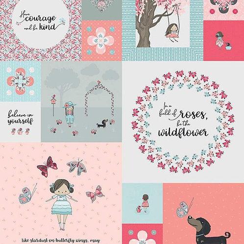 Abbie's Garden Panel from Riley Blake Designs
