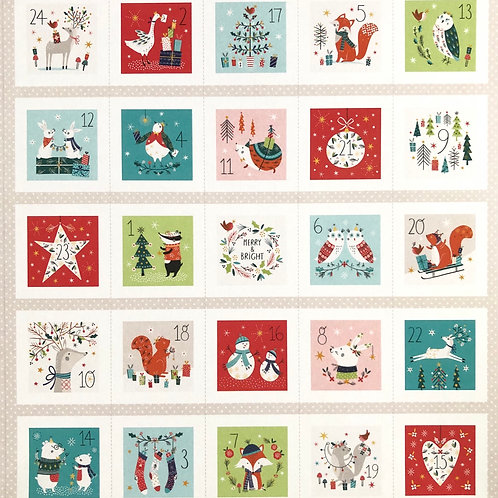 Forest Friends Advent Panel with Gold Metallic from Dashwood