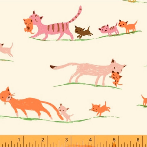 Cats from 20th Anniversary by Heather Ross for Windham