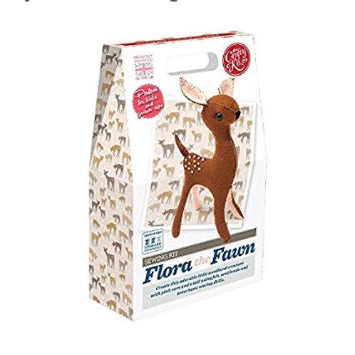 Flora Fawn Felt Sewing Kit