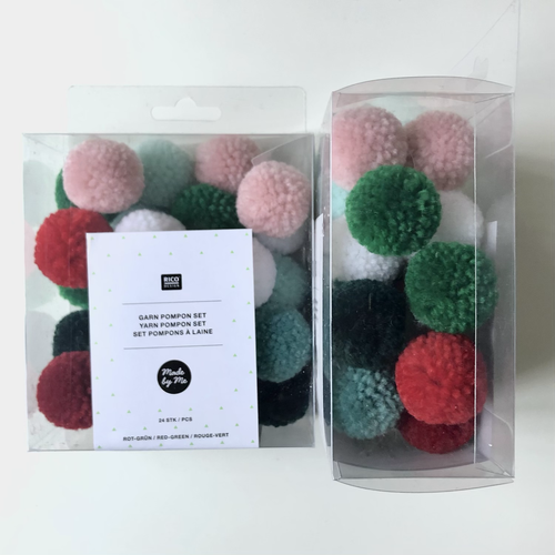 Box of 24 Pom Poms