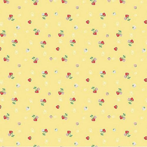 PRE-ORDER Yellow Strawberries from Quilt Fair by Tasha Noel for Riley Blake Desi