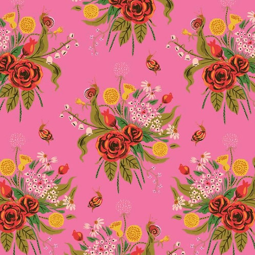 Wild Flowers in Pink from 20th Anniversary by Heather Ross for Windham