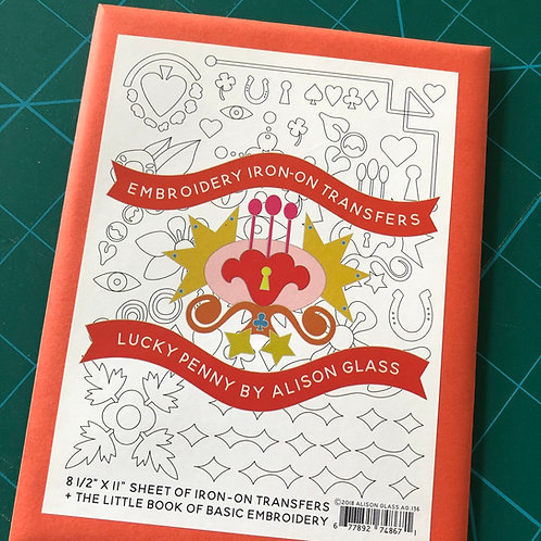Alison Glass Lucky Penny Embroidery Iron On Transfers