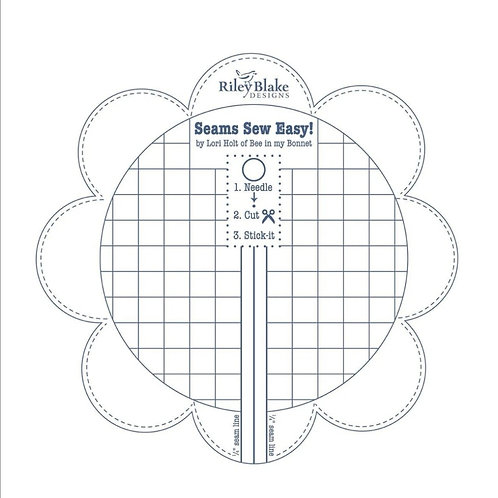 PRE-ORDER Lori Holt Sew Easy Seam Guide, Denim Blue