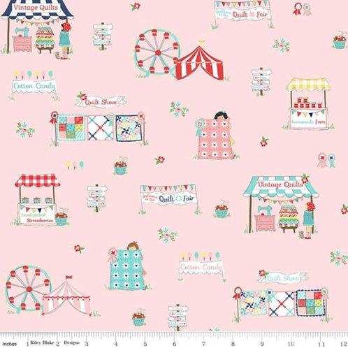 PRE-ORDER Pink Main from Quilt Fair by Tasha Noel for Riley Blake Designs