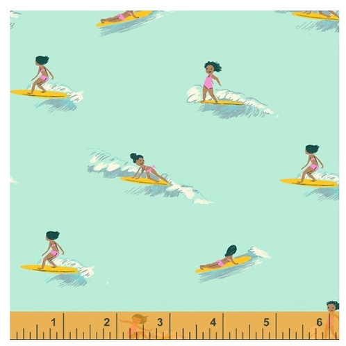 PRE-ORDER Tiny Surfers (COTTON LAWN) from Malibu by Heather Ross