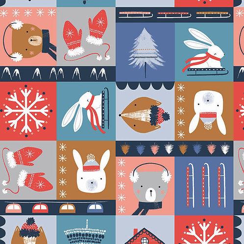 Snow Much Fun Block Print for Dashwood Studio