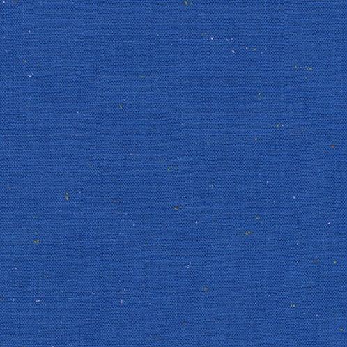 Bright Blue Speckled Essex Linen from Robert Kaufman