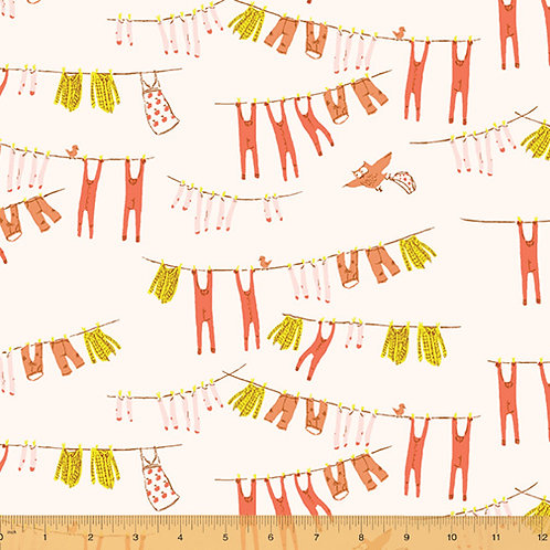 PRE-ORDER Laundry on Ivory from Far Far Away 3 by Heather Ross, Windham Fabric