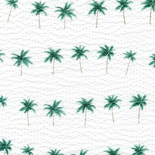 Hawaiian Palms on White from Robert Kaufman