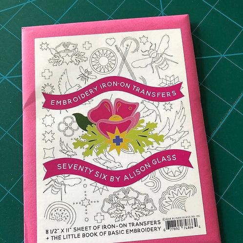 Alison Glass Seventy Six Embroidery Iron On Transfers