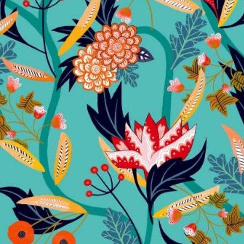 Gardenia Floral Rayon for Dashwood Studio