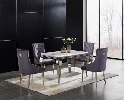 Cream florence rectangular table with li