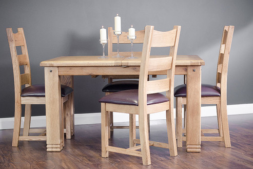 1.4m Ext Dining Table with 4 PU chairs.j