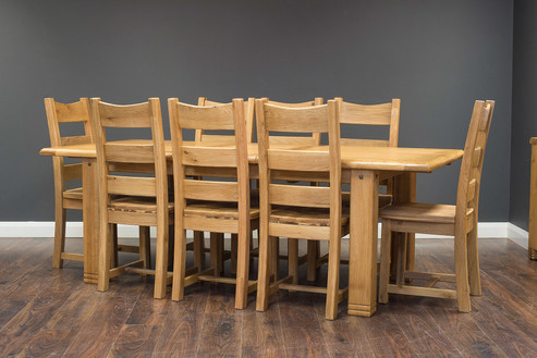 2.2m Fixed Table with 8 Timber Chairs.jp