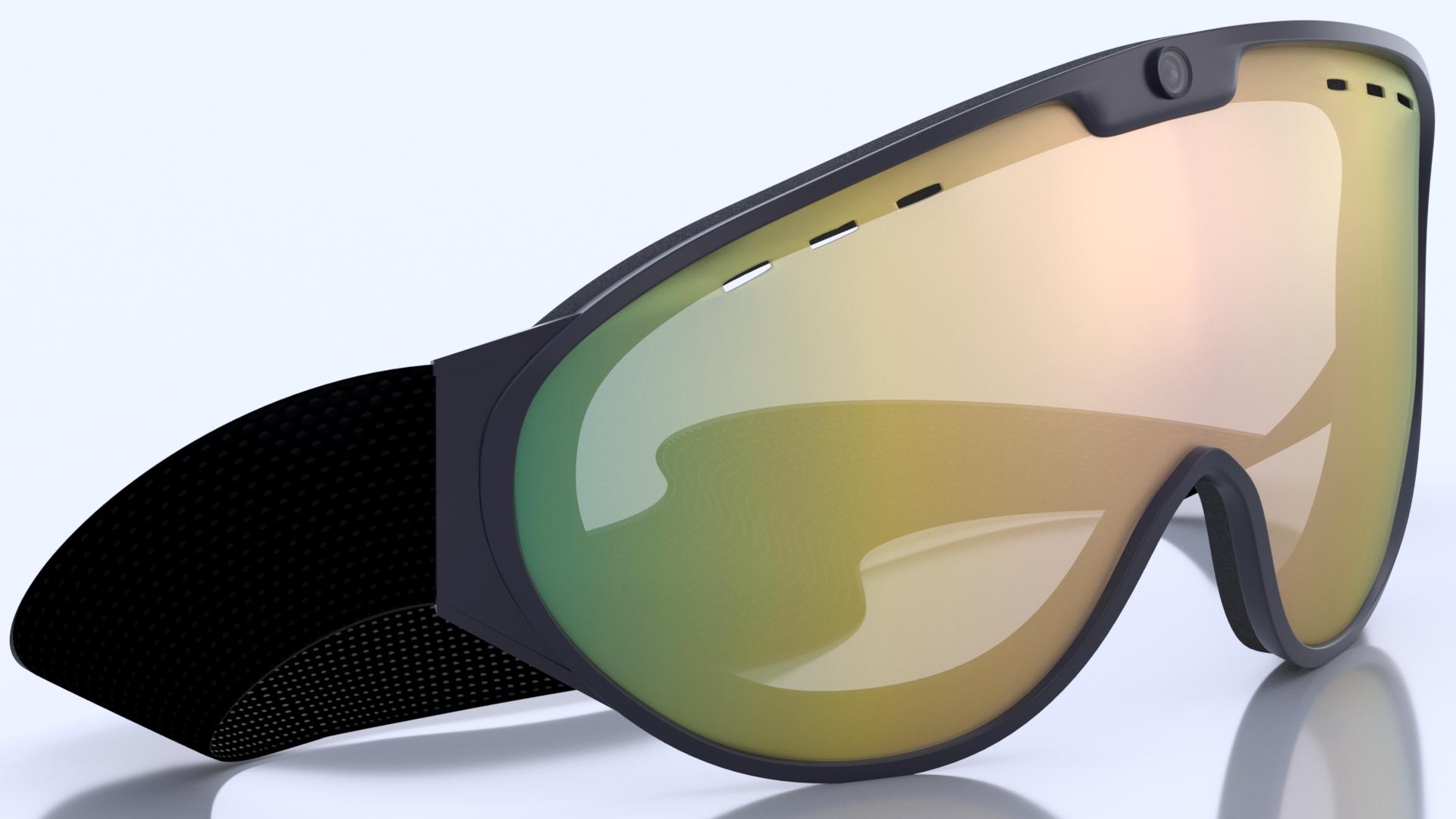 Smart Ski Goggles 3D Render