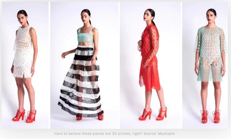 3D Printed Fashions
