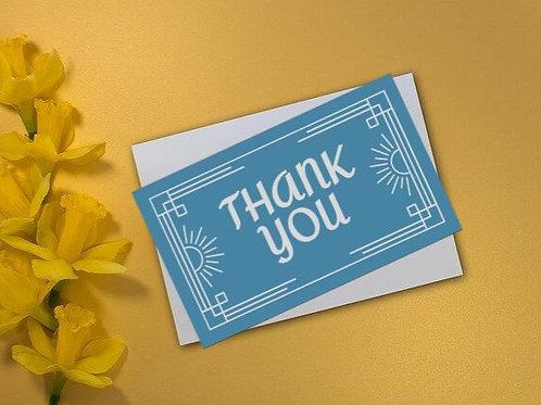 Blue Beam Thank You Card