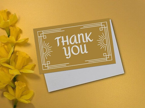 Golden Rule Thank You Card