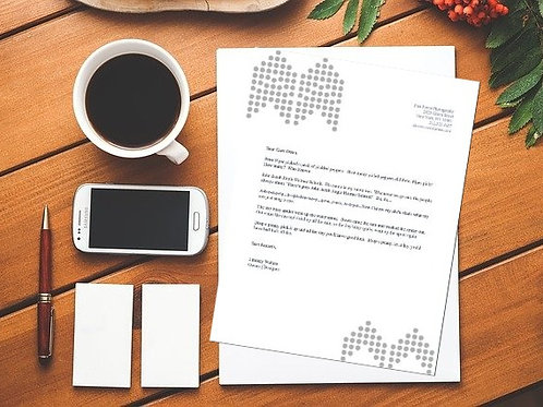 Dotted Grayscale Letterhead