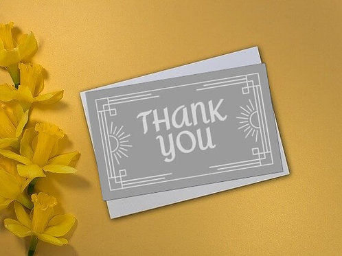 Silver Stunner Thank You Card
